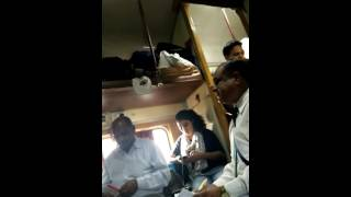 ex railway staff member misbehaving with students in train from delhi to ahmadabad on 20 5 16