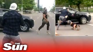 Driver 'ploughs into George Floyd protester' at Black Lives Matter rally in Colorado
