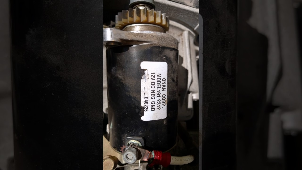Starter replacement on 4k Cummins RV generator