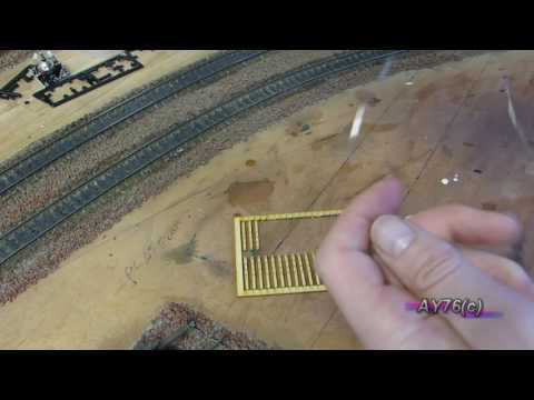 Building A Model Railway – Scenics (Lineside Post & Wire Fencing)