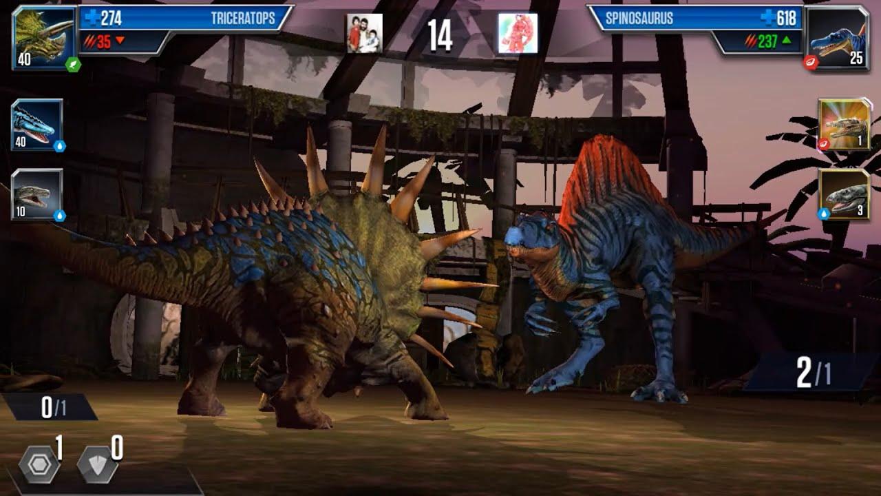 Triceratops vs Spinosaurus - Dinosaurs Battle #381