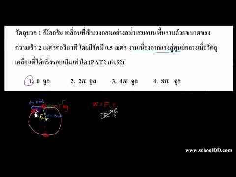 ฟิสิกส์ บทที่ 5 งาน(ข้อสอบเข้ามหาลัย)