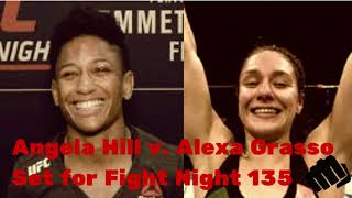 Angela Hill v Alexa Grasso Set For UFC Fight Night 135