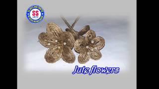 How to make Jute flowers /Jute crafts /Decorative jute flowers