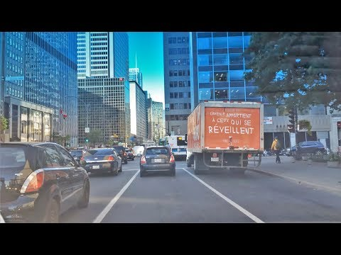 Driving Downtown - Montreal