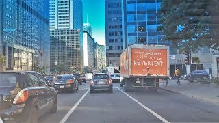 Driving Downtown - René Lévesque Boulevard - Montreal Quebec Canada