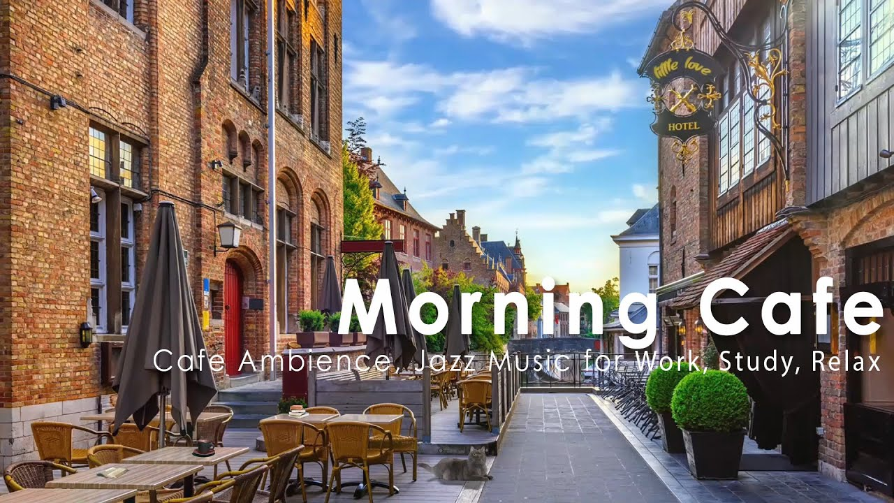 Download Outdoor Coffee Shop Ambience - Mellow Morning Bossa in Cafe Old Street of Bruges, Flanders, Belgium