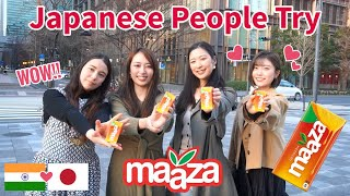 Japanese People try MAAZA for the First Time!!