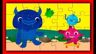 Kids Puzzle and Music with Funny Endless Monsters │ Animation Cartoon for Children