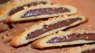 Nutella Filled Biscotti Recipe - How To Cook Real Italian Food from my Italian Kitchen