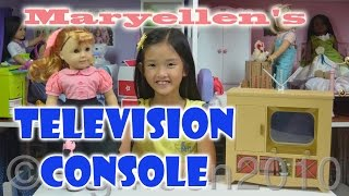 American Girl Doll Maryellen's Poodle Skirt Outfit & Television Console