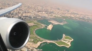 Blasting Out Of The Desert!!!  Awesome HD 777-200LR Takeoff From Doha on Qatar Airways!!!