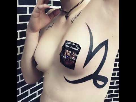 Underboob tattoo by robert costea tattoo art bucharest