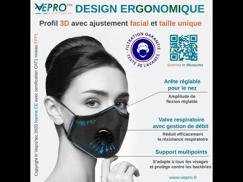 Entretien des masques lavables Vepro'Tec