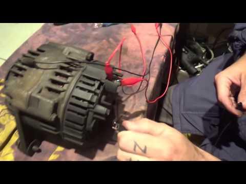 How NOT to test a car alternator !