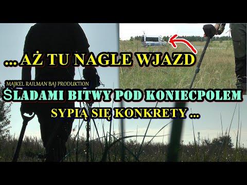 OWOCNE POSZUKIWANIA ŚLADEM KONIECPOLA PRZERYWA WJAZD POLICJI!!!