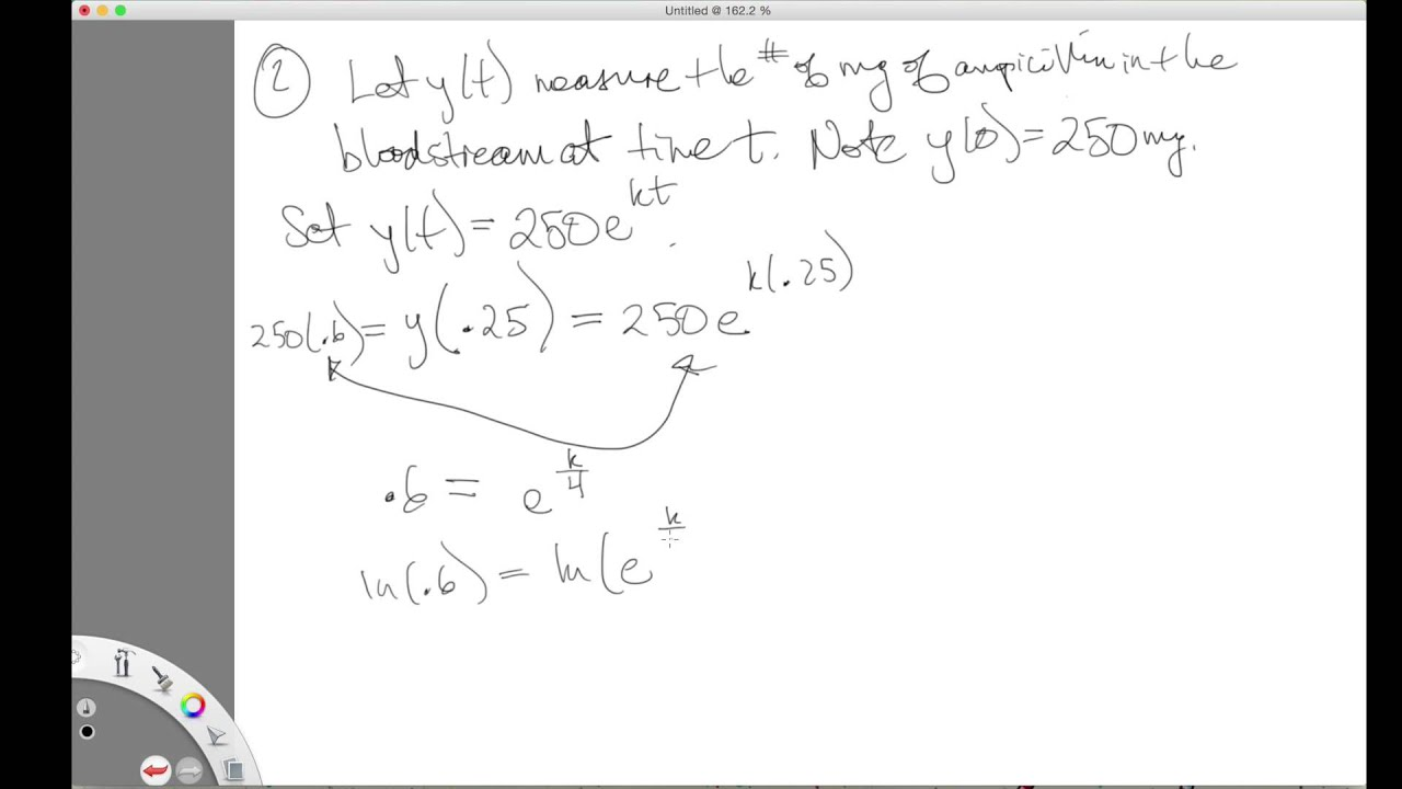 Krystal Math with Dr Kish Calculus 1 Exponential Growth and – Exponential Growth Decay Worksheet
