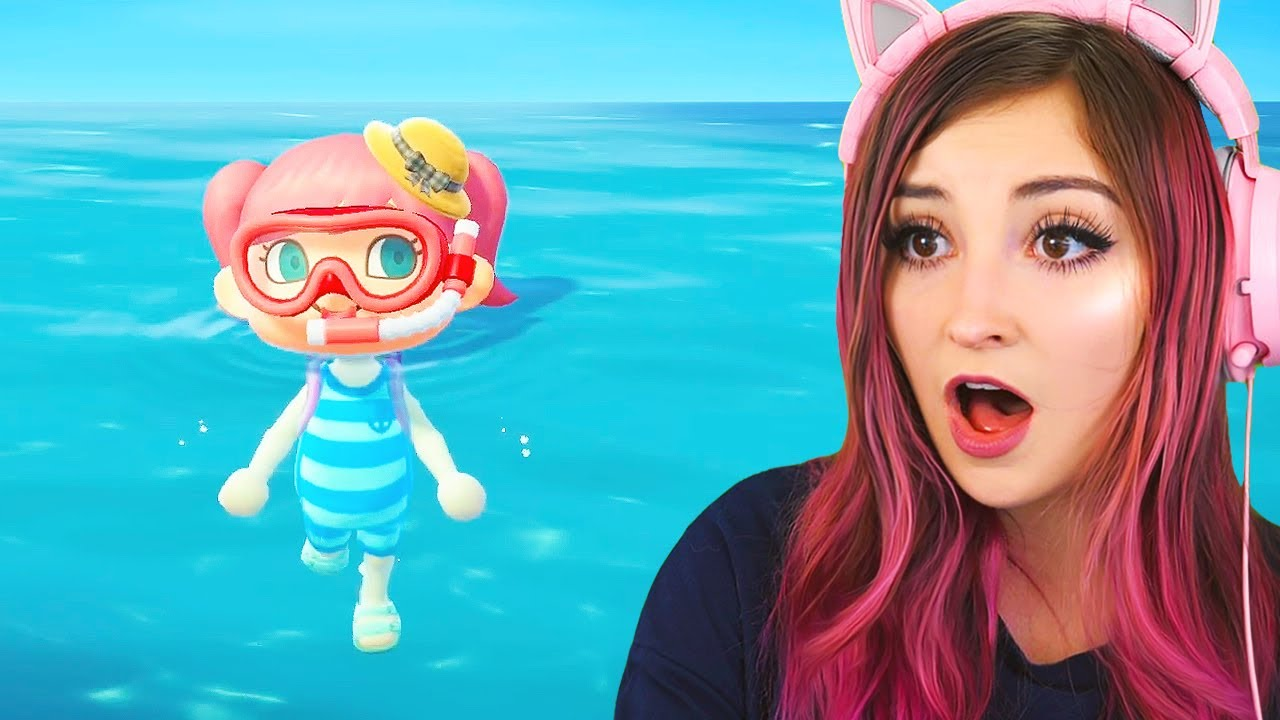 we can swim now in animal crossing new horizons! (Streamed 7/3/20)