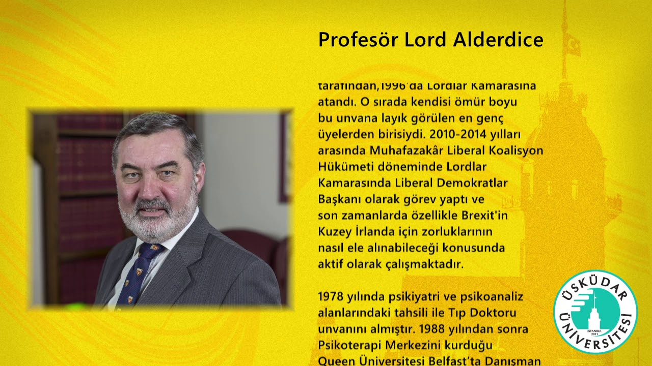 Professor, The Lord Alderdice Biyografisi