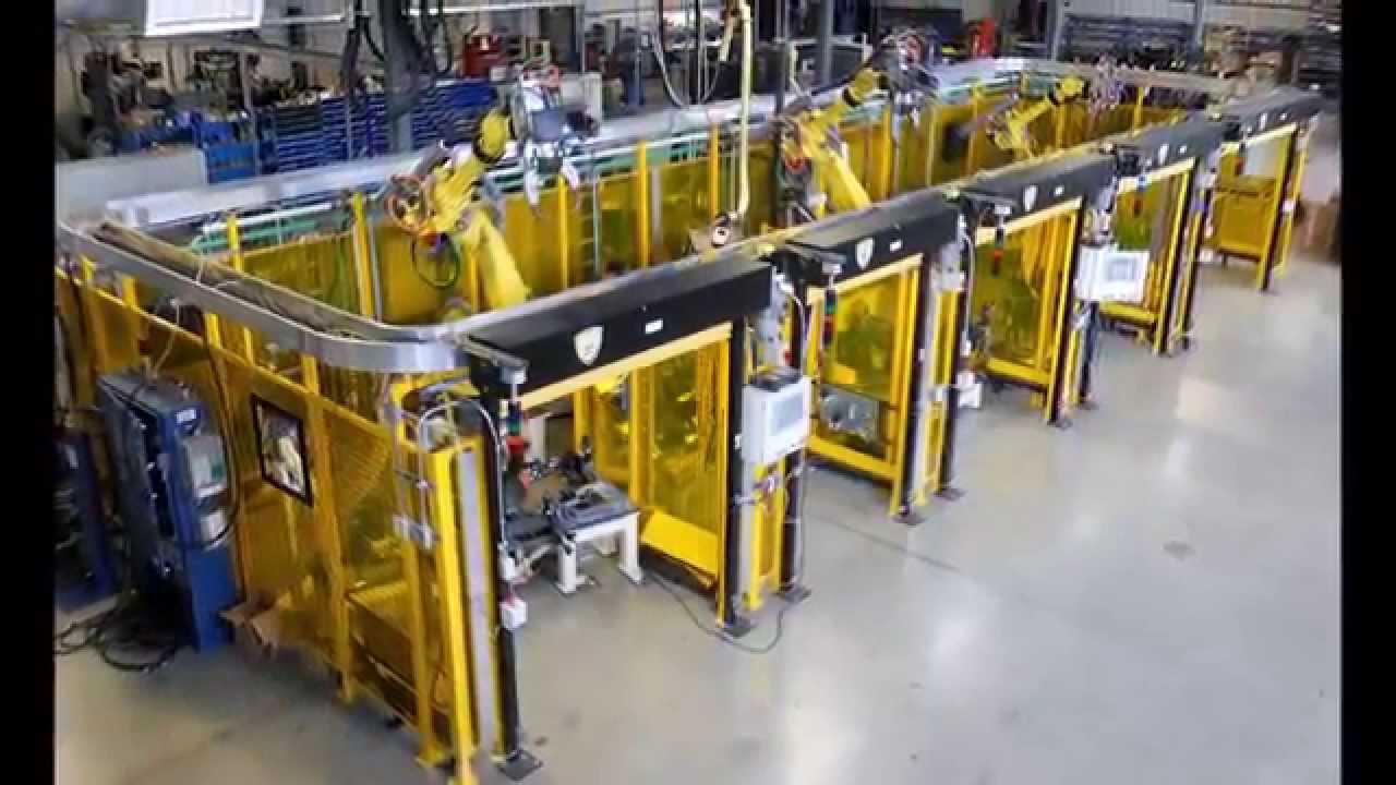 Multi Tool Robotic System For Spot Welding Automotive