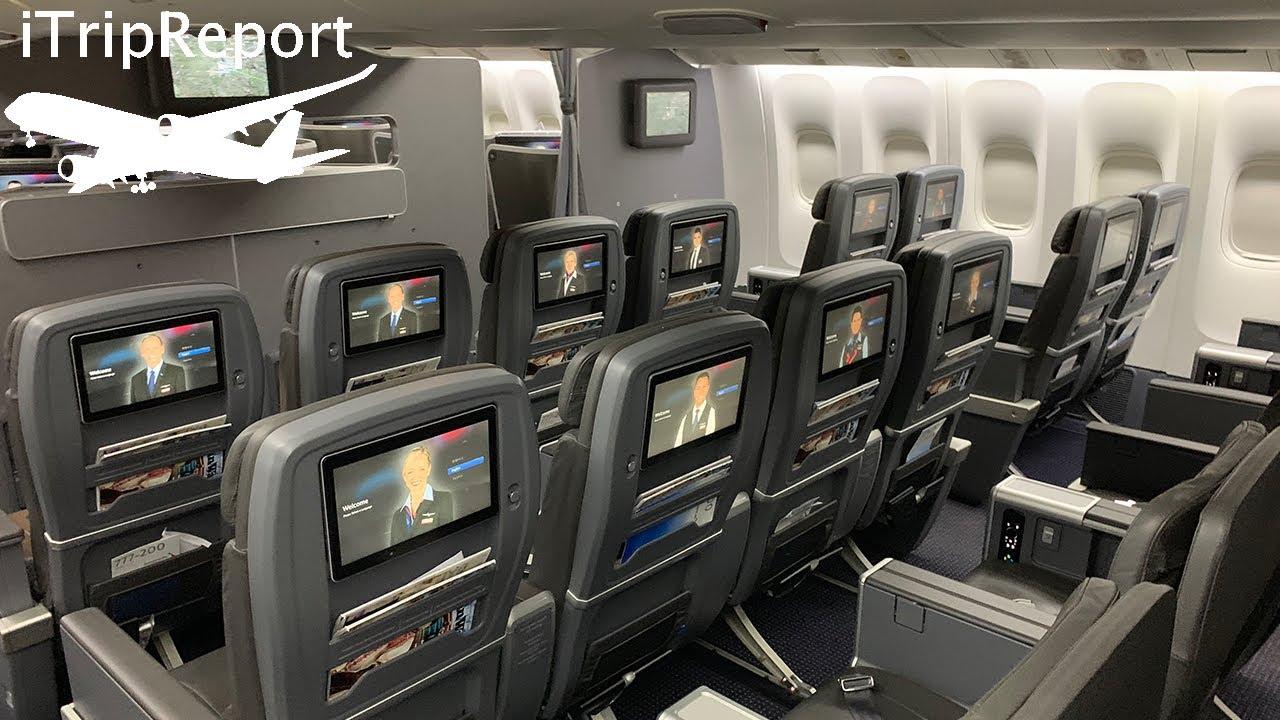 American 777 200er Premium Economy Review Youtube