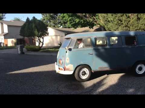 1960 VW bus first drive around block
