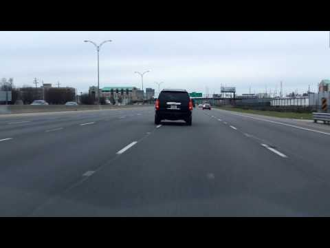 Claiborne and Pontchartrain Expressways (Interstate 10 Exits 238 to 230) westbound