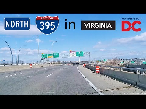 I-395 Northbound In Virginia And DC (Full Trip)