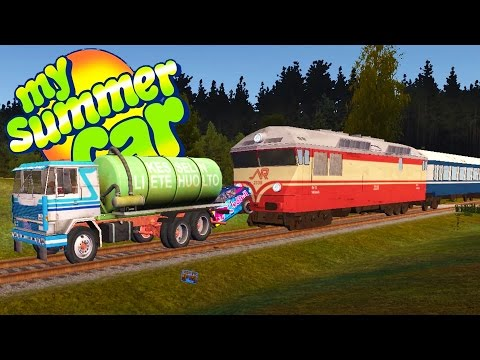 THE SEWAGE TRUCK VS THE TRAIN! The Most Insane Crashes - My Summer Car Gameplay Highlights Ep 51