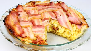 Macaroni & Cheese Bacon Pie