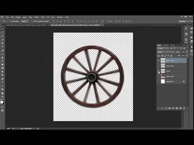 קליקיט פיתוח עסקי באינטרנט - לימוד פוטושופ - Spin Blur