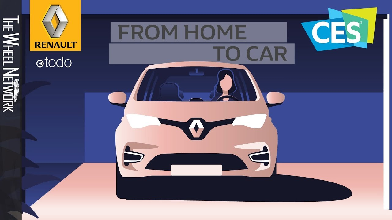 Renault and Otodo develop 'Smart Home' – From home to car - YouTube
