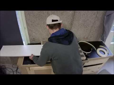Fabrication d'une cuisine en mélaminé /Build modern kitchen