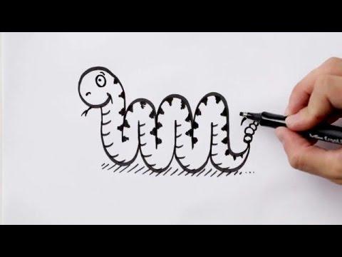 Comment Dessiner Un Serpent dessiner un serpent avec la lettre m (hellokids) (hellokids) - youtube