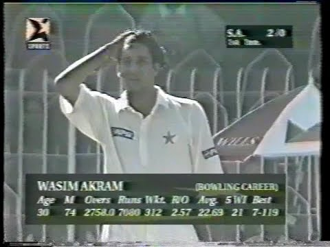 Wasim & Waqar GREAT BOWLING Vs South Africa (4 -30) at Faislabad Test 97