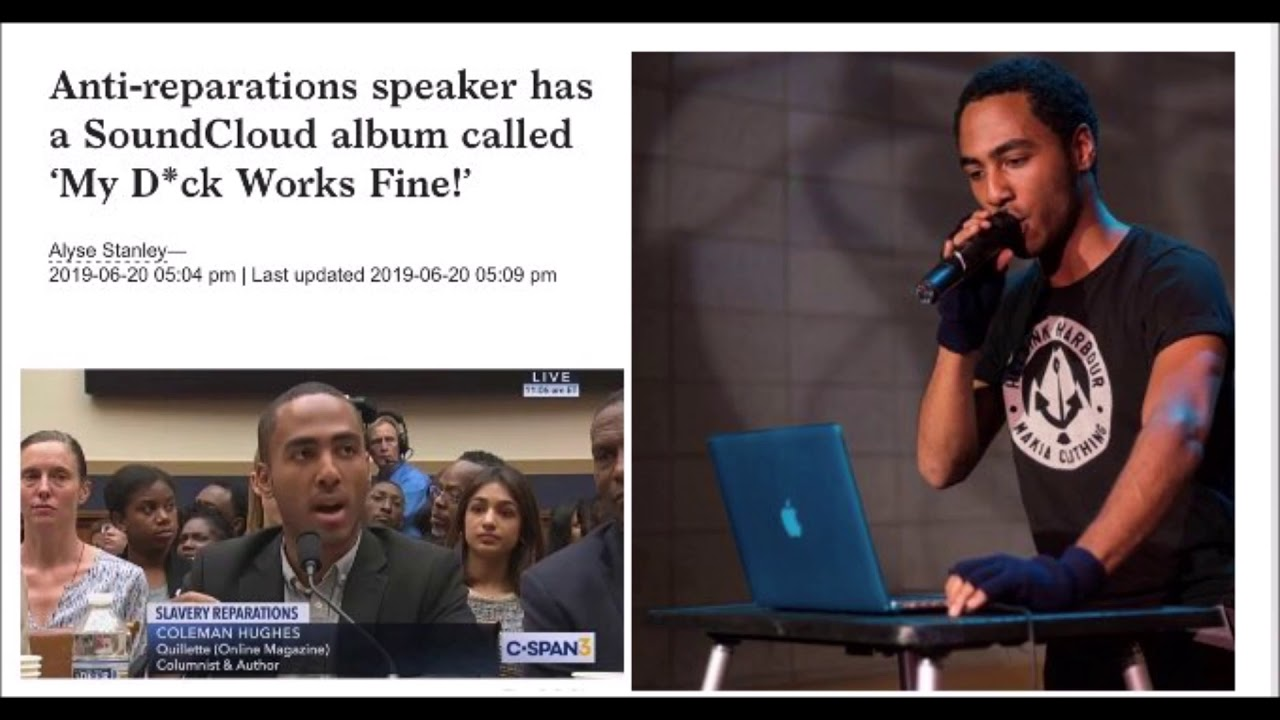 Anti Reparations Speaker Is A SoundCloud Rapper With Album Called' My D#ck Works Fine'