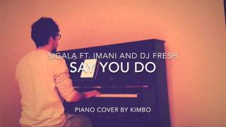 Sigala ft. Imani and DJ Fresh - Say You Do (Piano Cover and FREE Sheets)