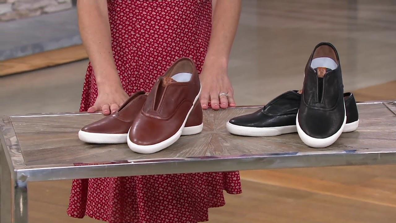 Frye Leather Slip-On Sneakers - Maya on