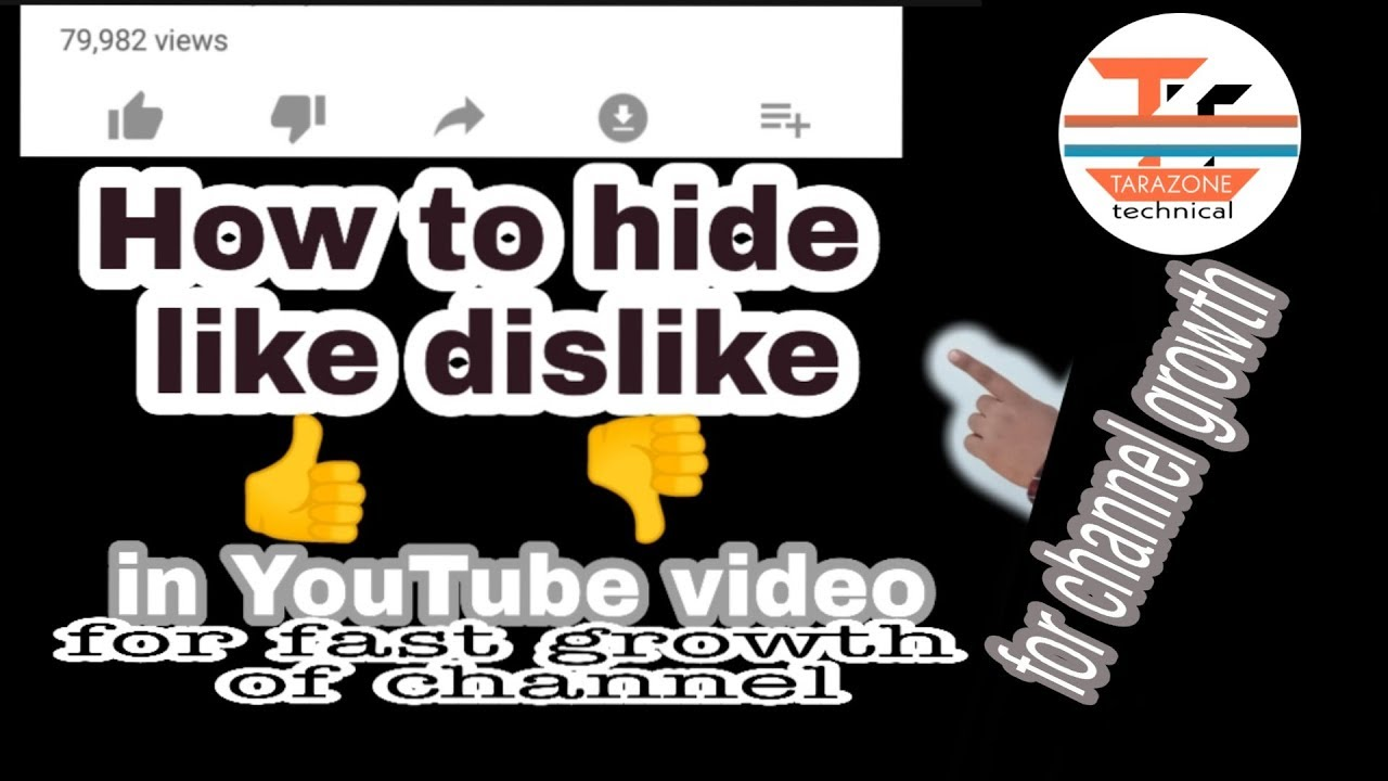 how to hide likes and dislikes on youtube by TARAZONE