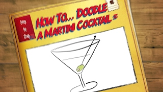 How to... Doodle = How to draw a martini cocktail = in doodle/ comic style - apple iPad pencil