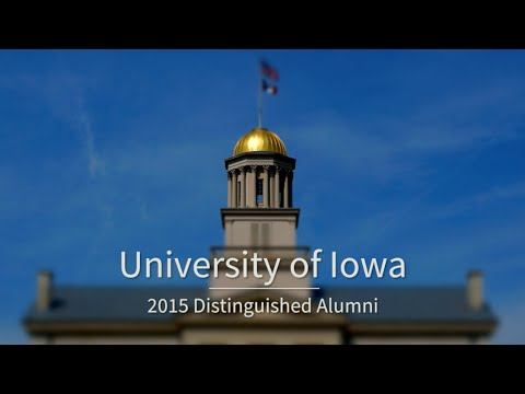 University of Iowa 2015 Distinguished Alumni on YouTube