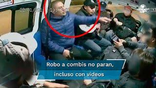 Operadores y usuarios del transporte del Estado de México dicen que a pesar de cámaras y GPS en las unidades los asaltos no han disminuido