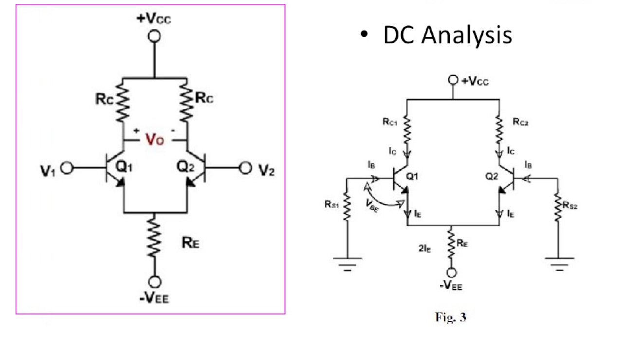 Dc analysis of differential amplifier youtube dc analysis of differential amplifier pooptronica