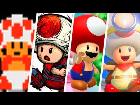 Evolution of Toad Outfits (1985 - 2018)