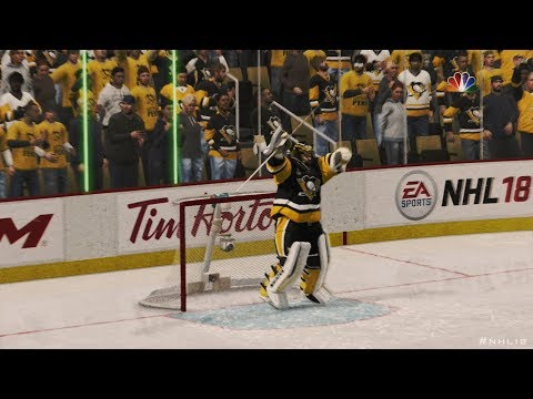 NHL 18: Penguins vs Capitals - Playoff Atmosphere | Full Game Highlights