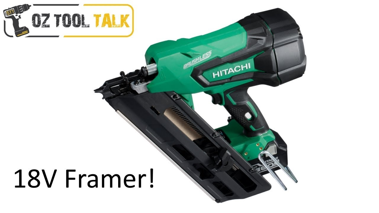 Hitachi 18v framing nail gun brushless nr1890dbcl youtube hitachi 18v framing nail gun brushless nr1890dbcl jeuxipadfo Images