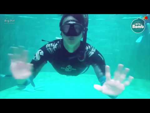 [ENG SUB] [BANGTAN BOMB] Jin's 'Skin diving' Training for Law of the Jungle