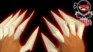 How to make: Origami Paper Claws (EASY)