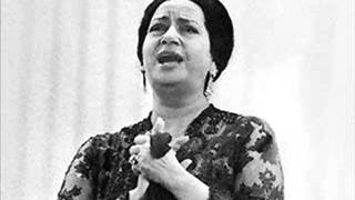"Oum Kalthoum , "" El Atlal, ""  The Ruins"""