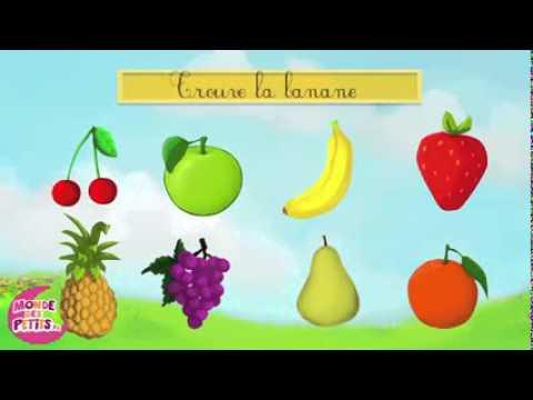 apprendre les fruits en s 39 amusant francais youtube. Black Bedroom Furniture Sets. Home Design Ideas